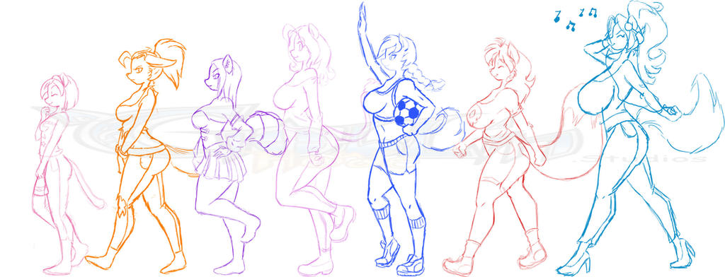 Milkshakes Bust Chart sketch by GoblinHordeStudios