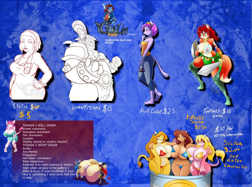 Commission page by GoblinHordeStudios
