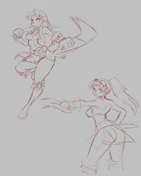 Aika sketches by GoblinHordeStudios