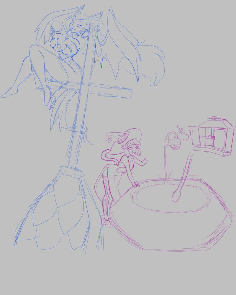 Halloween sketches preview by GoblinHordeStudios