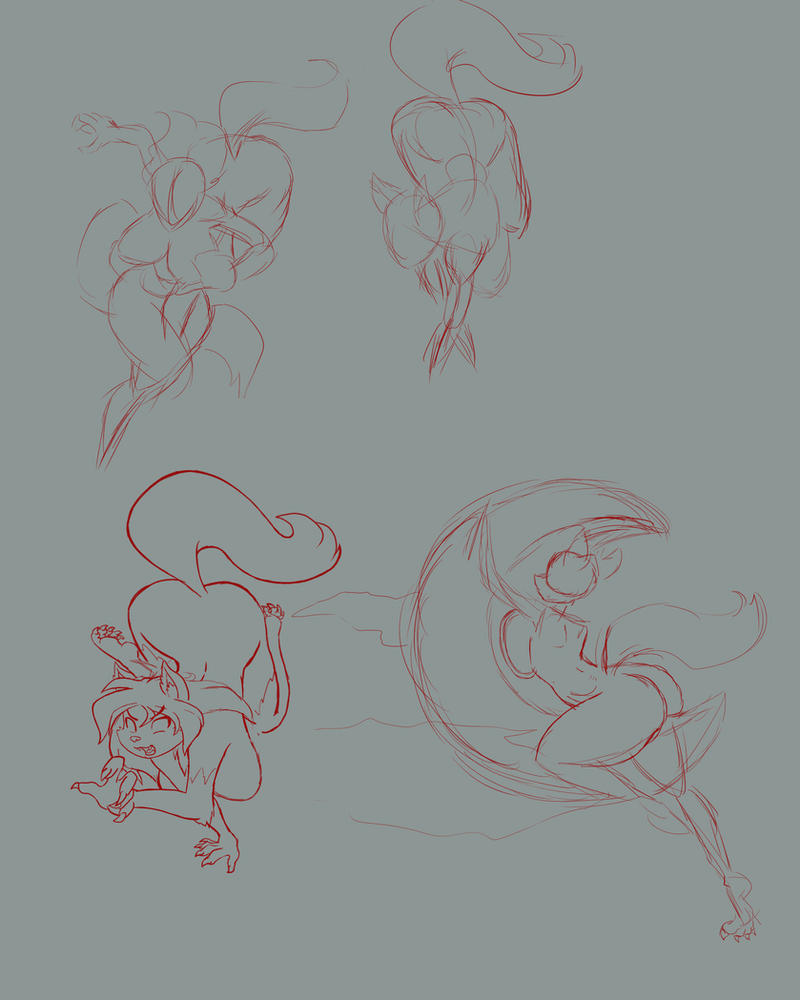 WereVicki sketches by GoblinHordeStudios