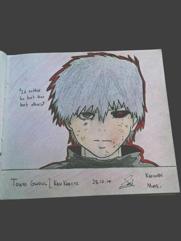 Ken Kaneki Tokyo Ghoul White Hair No Mask By Lunatickrow On Deviantart