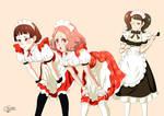 Makoto , Haru  and Kawakami