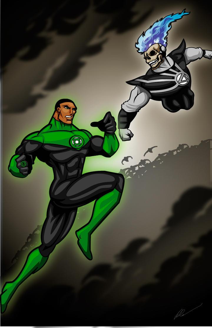 Black lantern green lantern
