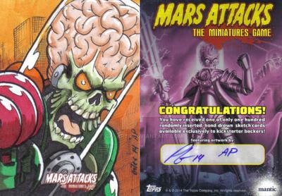 Mars Attacks Sketch Card by GIG-Arts