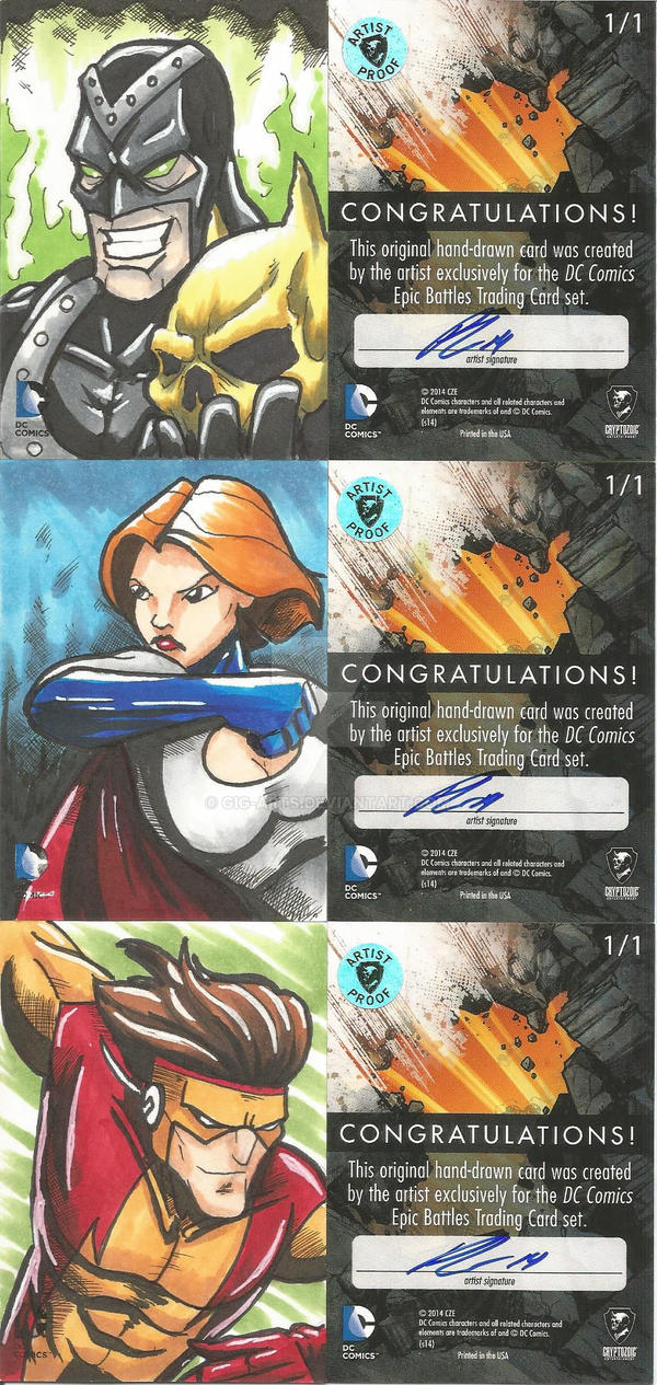 DC Epic Battles Artist Proofs 2 by GIG-Arts