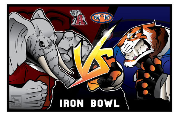Iron Bowl, Alabama vs Auburn by GIG-Arts