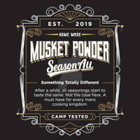 Musket Powder Ad Design