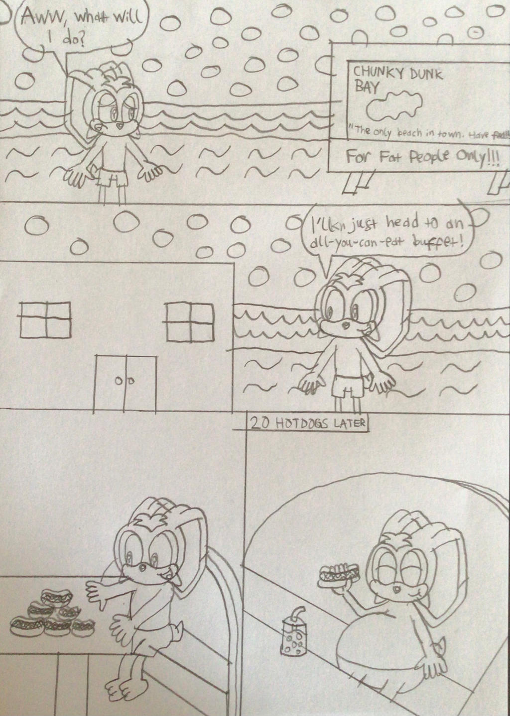 Crispy the Rabbit at Chunky Dunk Bay page 1
