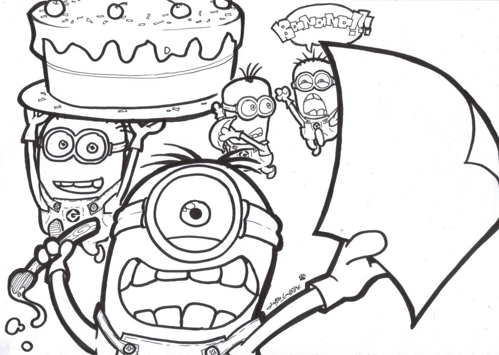 Coloring Minion Coloring Template Coloring Pages