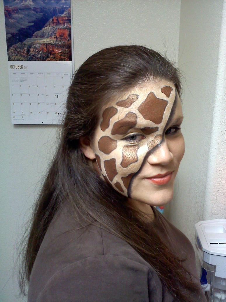 Giraffe Print Makeup Fun By CarnalClown On DeviantArt