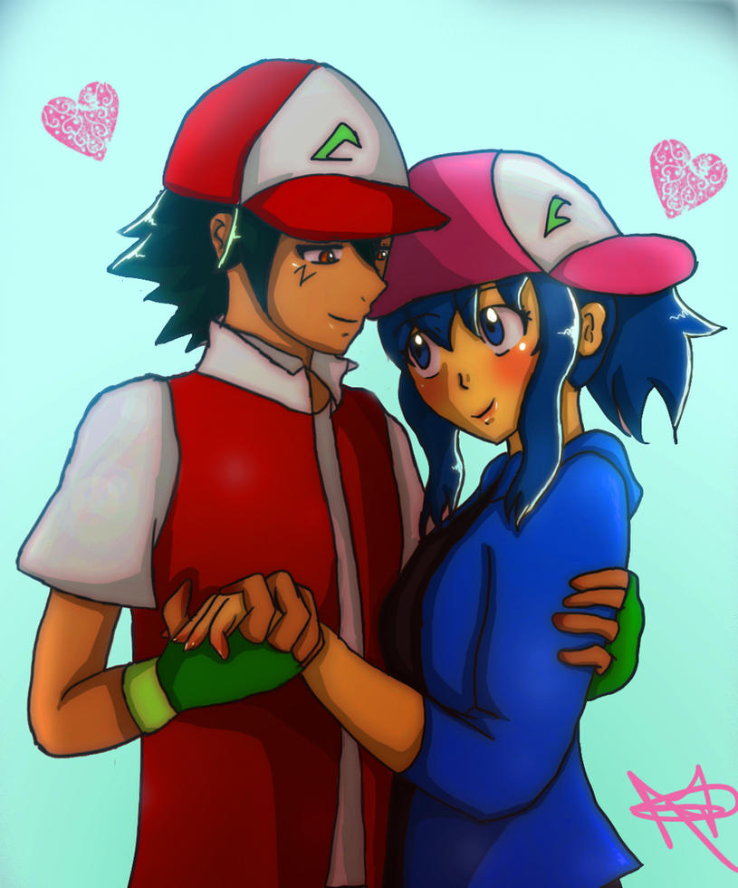 Pokemon Dawn: Commission N'5 : Dawn And Ash By GreatPeace On DeviantArt