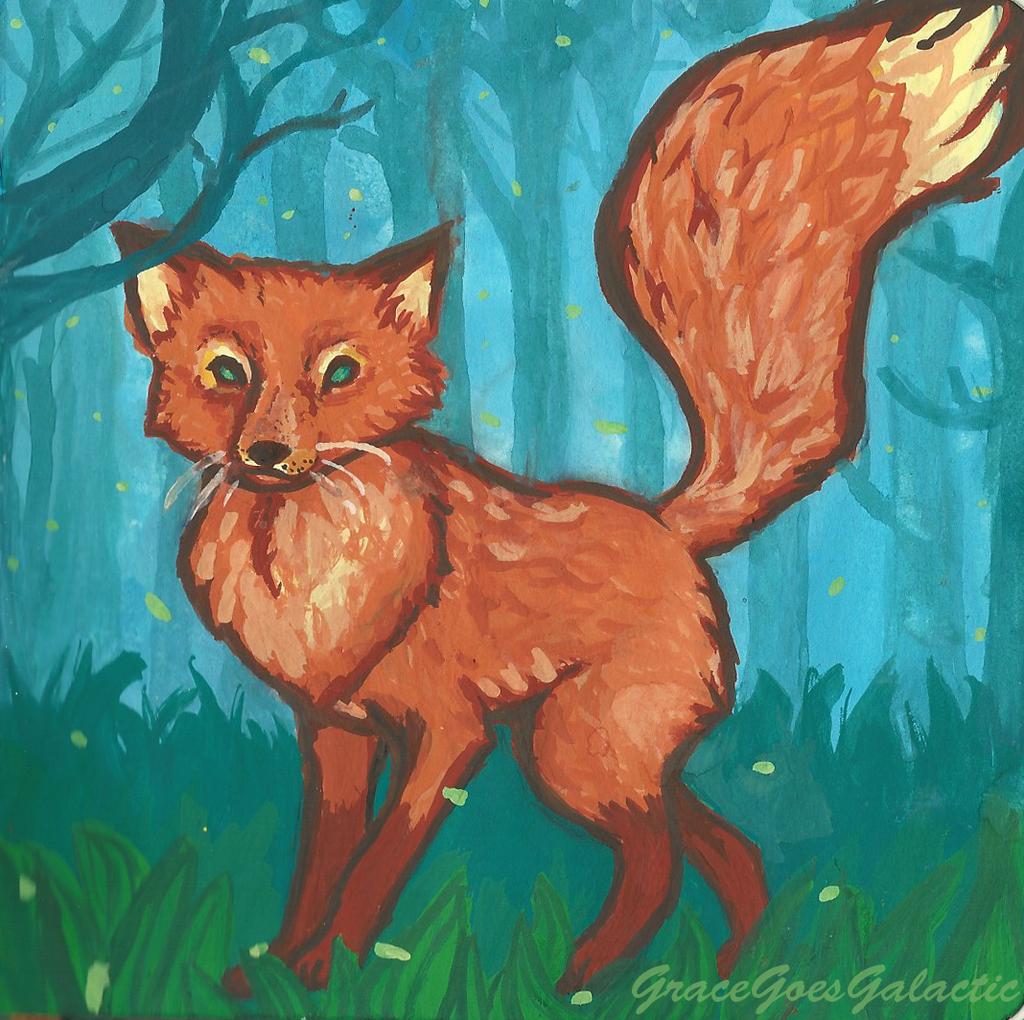 Fox on a summer evening by GraceGoesGalactic