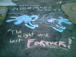 Halloween chalk drawing 2012 by SailorCardKnight