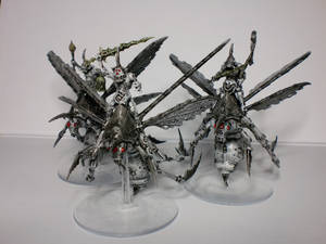 Plague Drones of Nurgle Black and White view 02