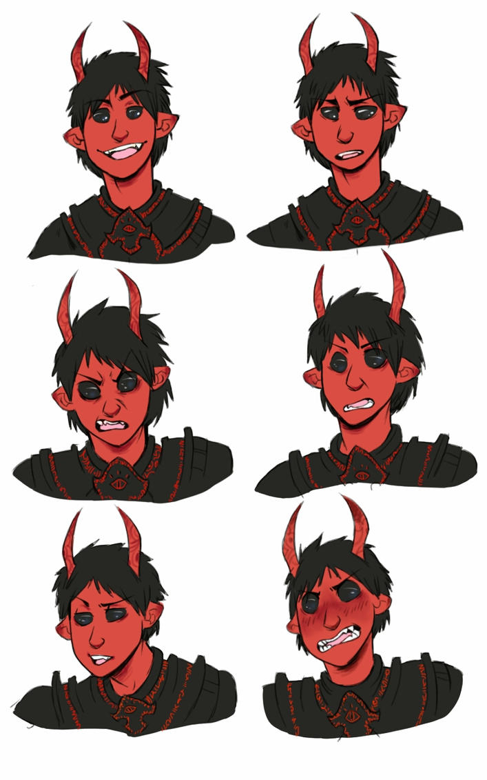 Malkev expressions by Dragonfangz