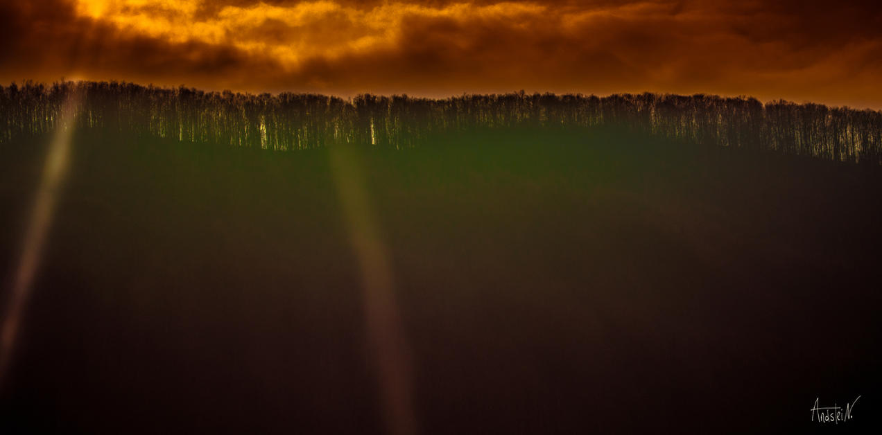 Storm over the forest. by Andstein00