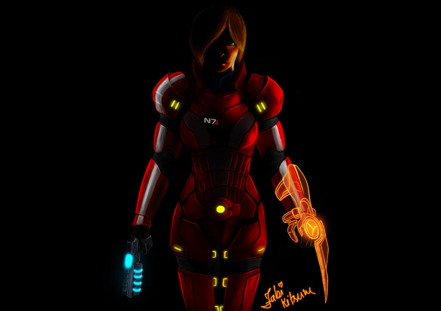 ::ME3: Shepard, Galaxy Hero:: by FabiKitsune