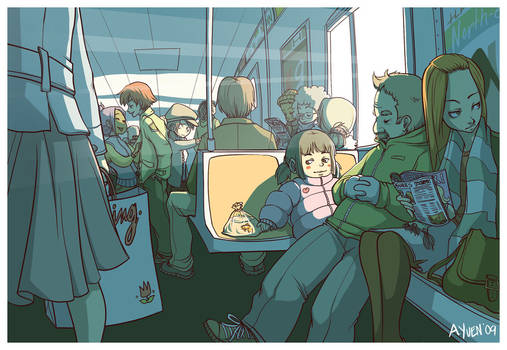 Train Ride With Friends