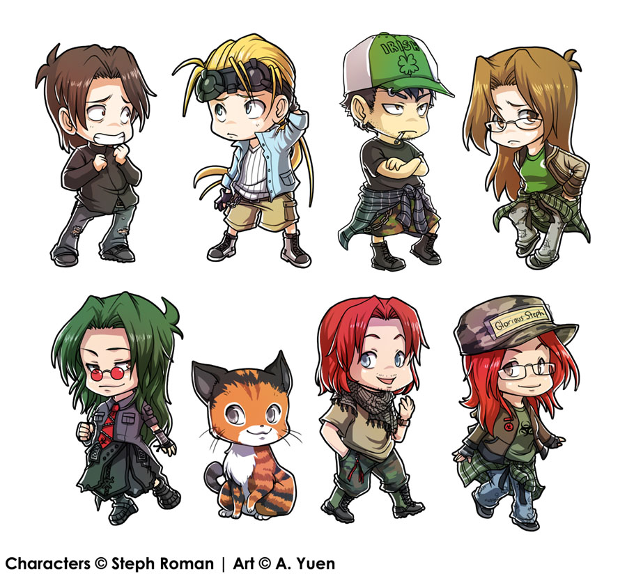 Steph's Chibis by weem