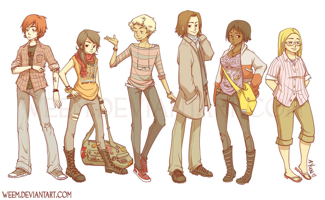Character Designs 2009 by weem