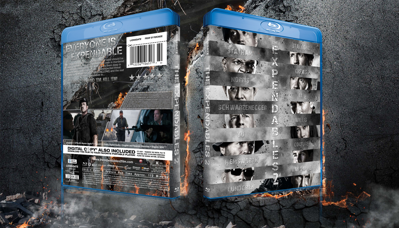 Expendables 2 Blu Ray Cover
