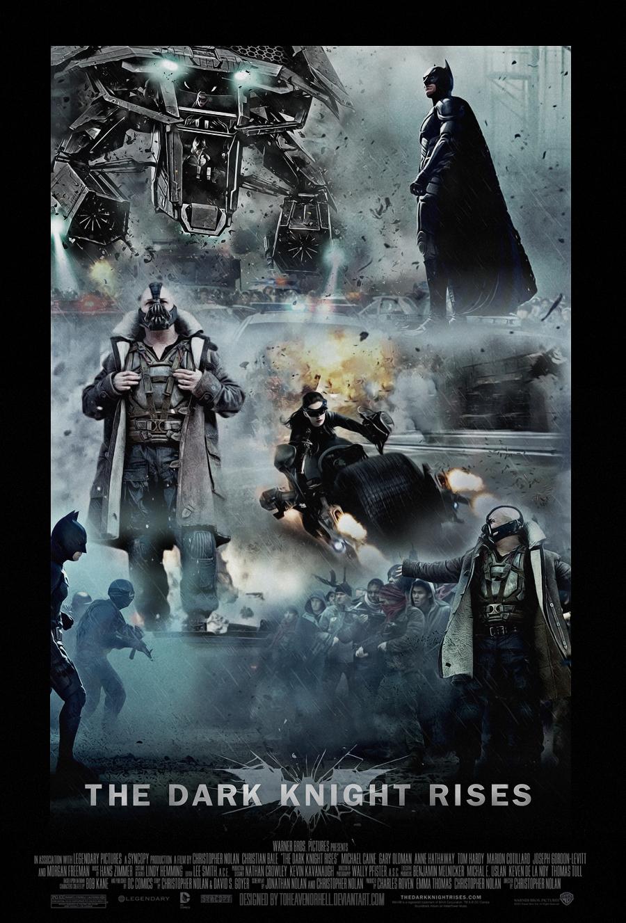 The Dark Knight Rises Movie Poster by ToHeavenOrHell