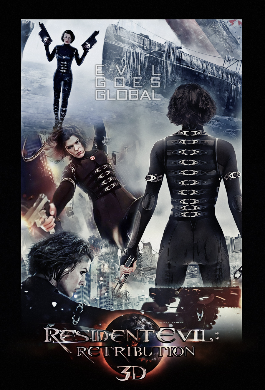 Resident Evil Retribution Movie Poster By Toheavenorhell On Deviantart