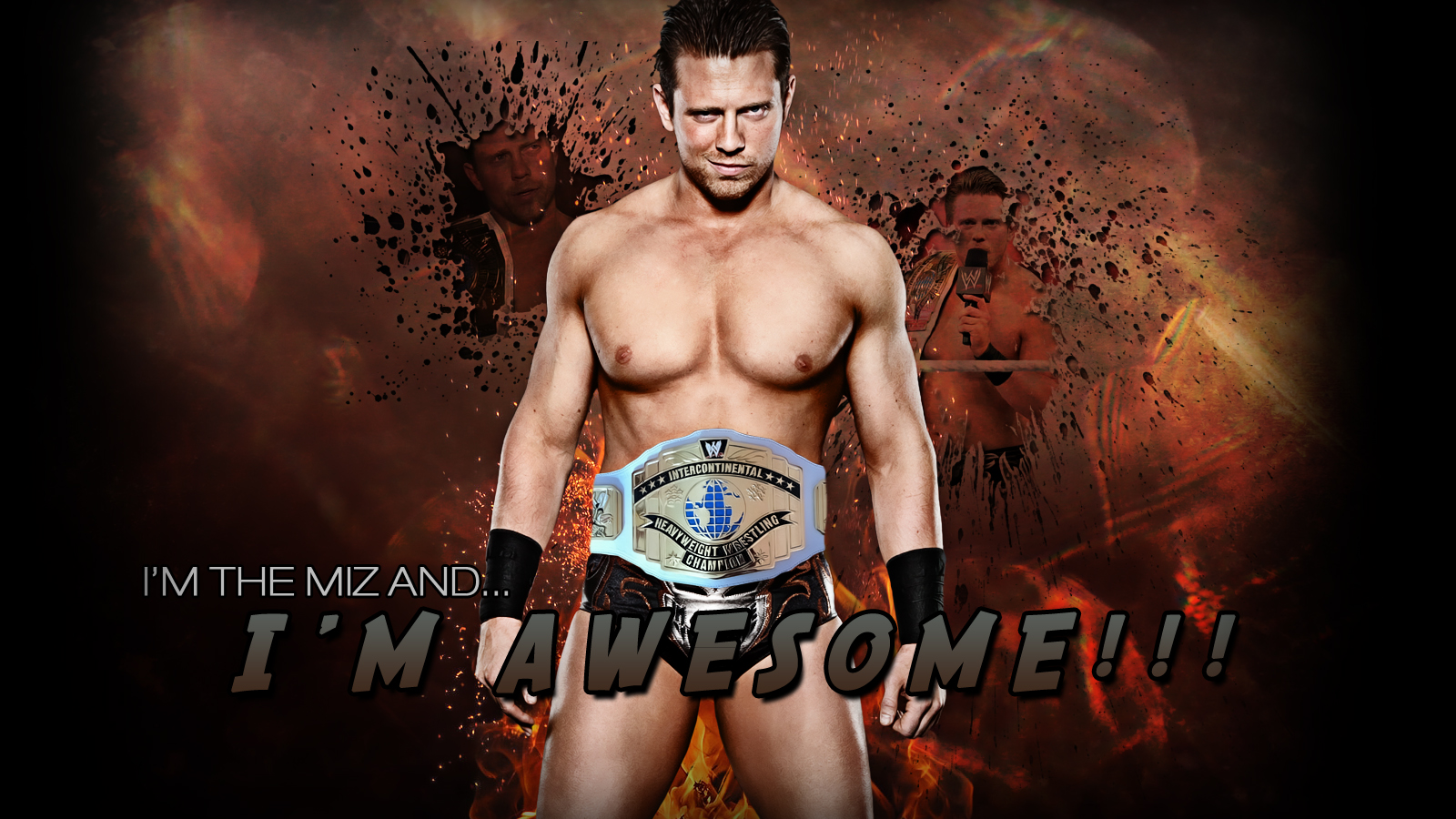 WWE The Miz Wallpaper by ToHeavenOrHell
