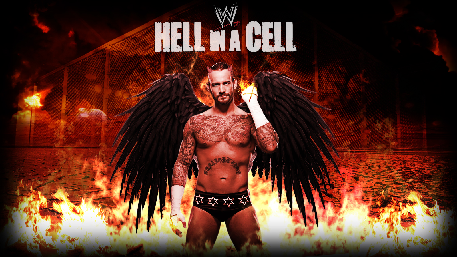 CM Punk Hell in the Cell Wallpaper WWE
