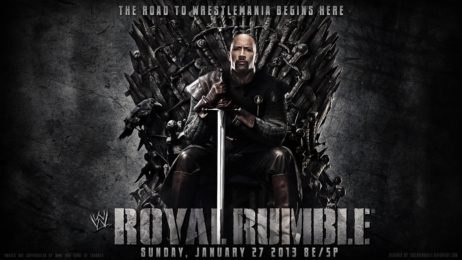 WWE Royal Rumble 2013 Wallpaper The Rock By ToHeavenOrHell