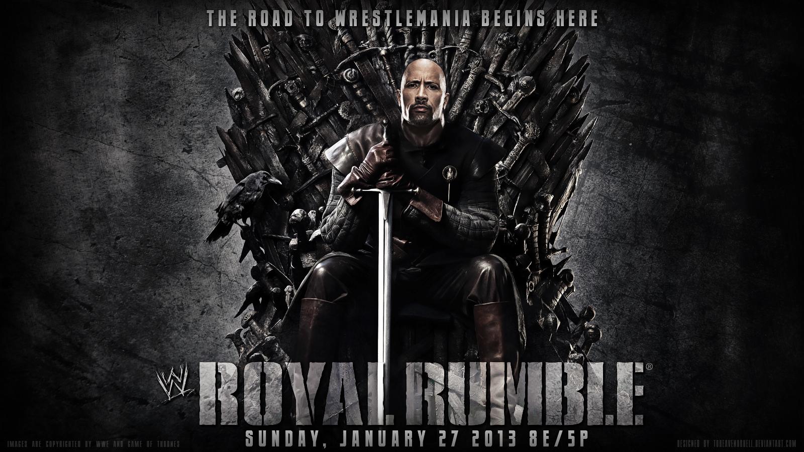 WWE Royal Rumble 2013 Wallpaper The Rock