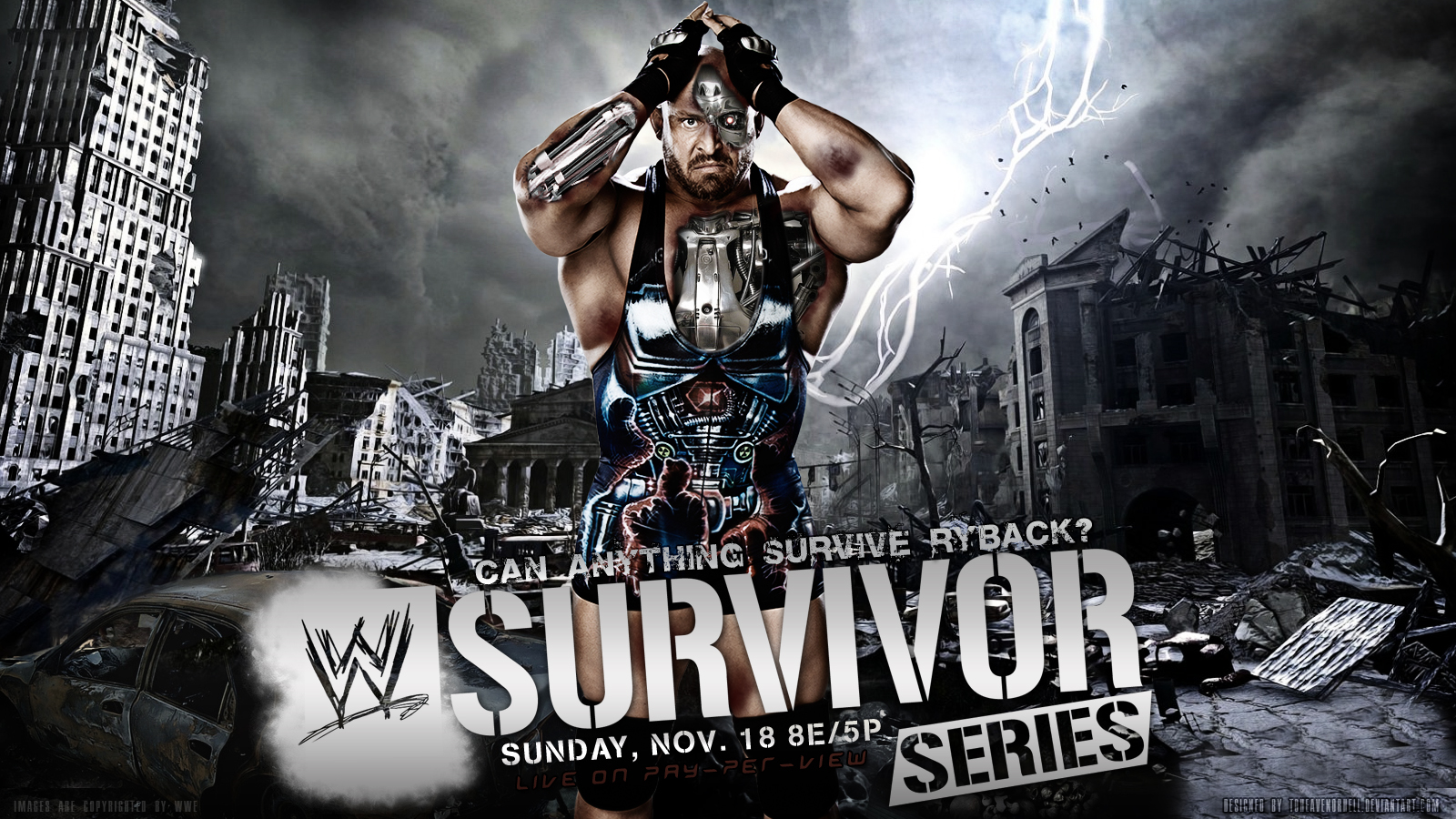 WWE Survivor Series 2012 Wallpaper Ryback by ToHeavenOrHell