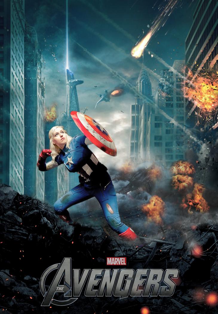 Female Captain America by ToHeavenOrHell