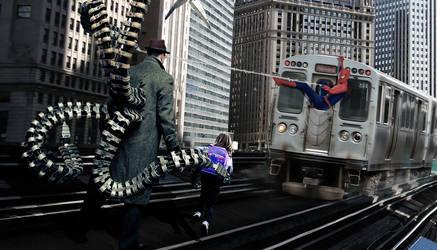 Spiderman 2: Spiderman vs Doc Ock