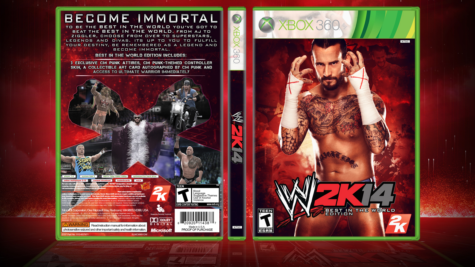 WWE 2K14 Cover - Best in the World Edition