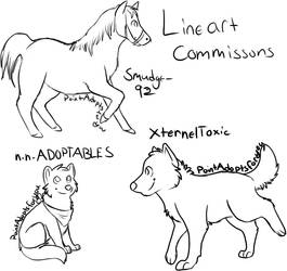 Lineart commission batch