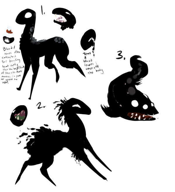 Shadow creatures - closed - by PointAdoptsforyou on DeviantArt  Shadow creature...