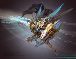 Mechanical Knight by hgjart