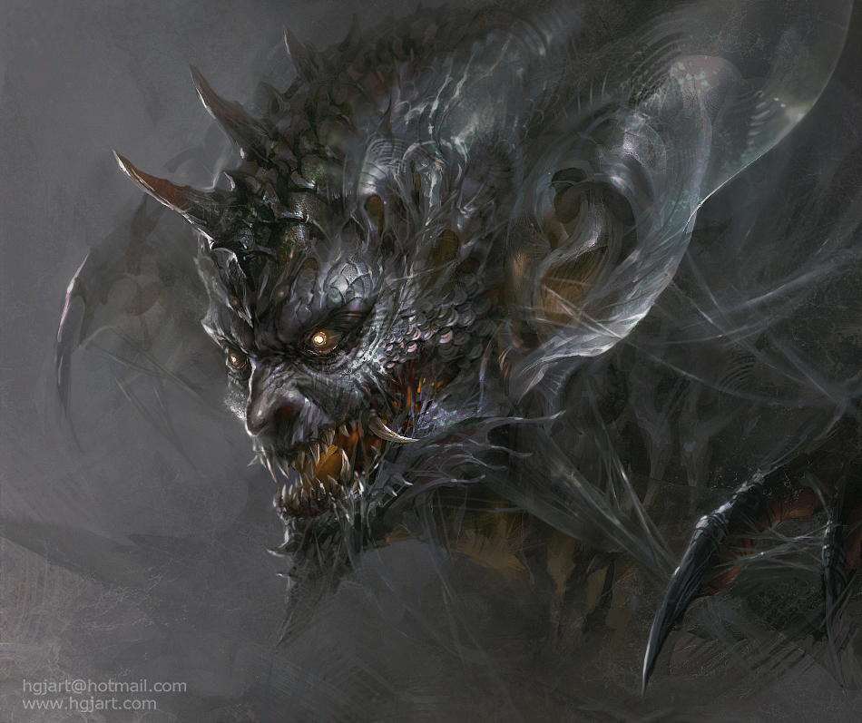 Monster head by hgjart