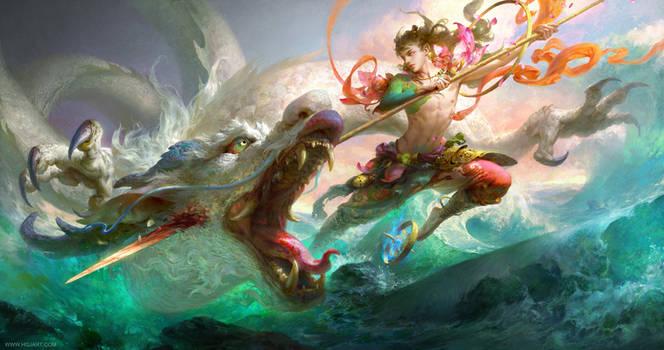 Nezha (a mythological person's name)