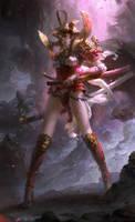 Lotus sword girl
