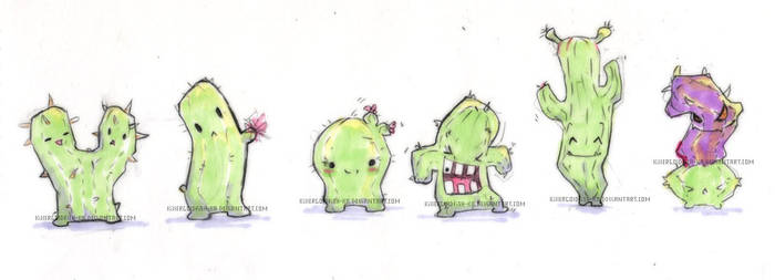 Cactus friends by TetraOrb