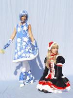 Kula and Nadia Gothic Lolita by Mary-cosplay