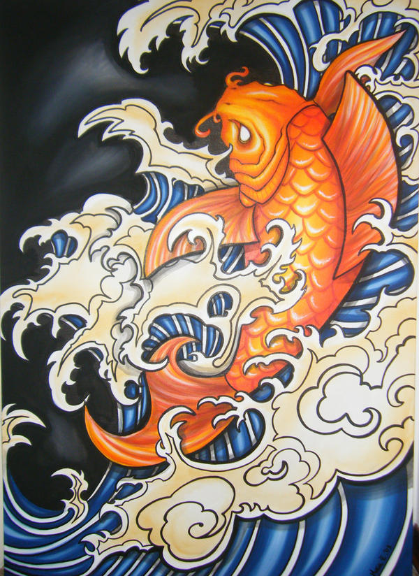 Koi carp by mary cosplay on deviantart for Japanese coy fish art