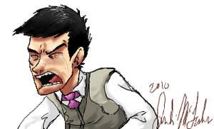 Dennis is sad and angry