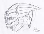 traditional Garrus animation by Wolf-Shadow77