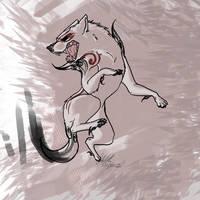 Okami redraw by Wolf-Shadow77