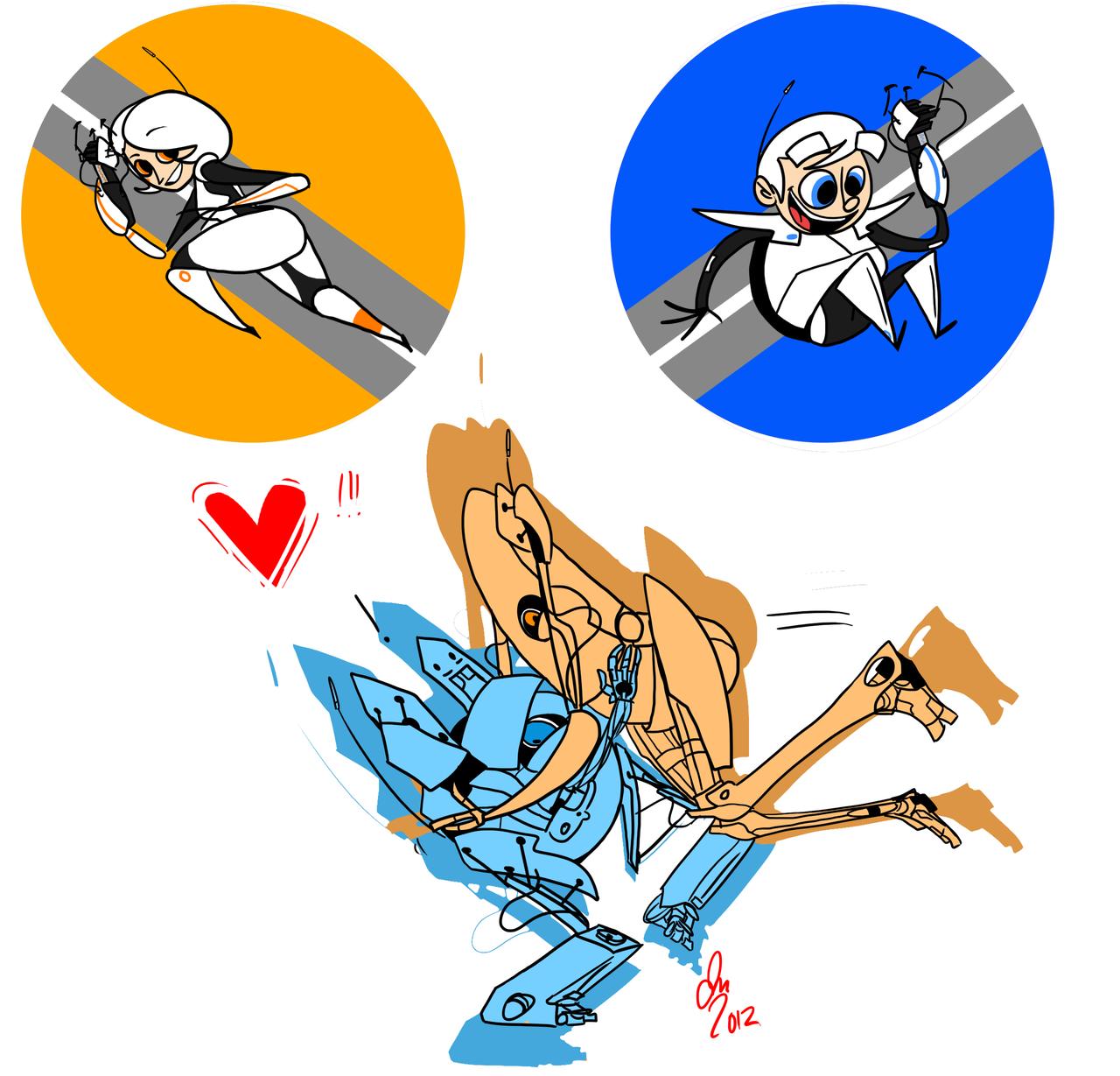 Cute little cartoon bots by Wolf-Shadow77