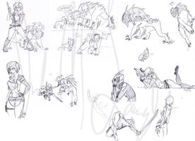 Borderlands sketch pile 6192013 by Wolf-Shadow77